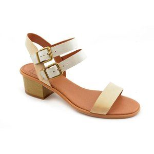 Lucky Brand Leyna Tan Block Heel Sandals 9.5